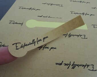 Especially For You Stickers - Kraft Long Shaped Especially For You Sticker