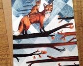 Fox Wood // Blank Greeting Card