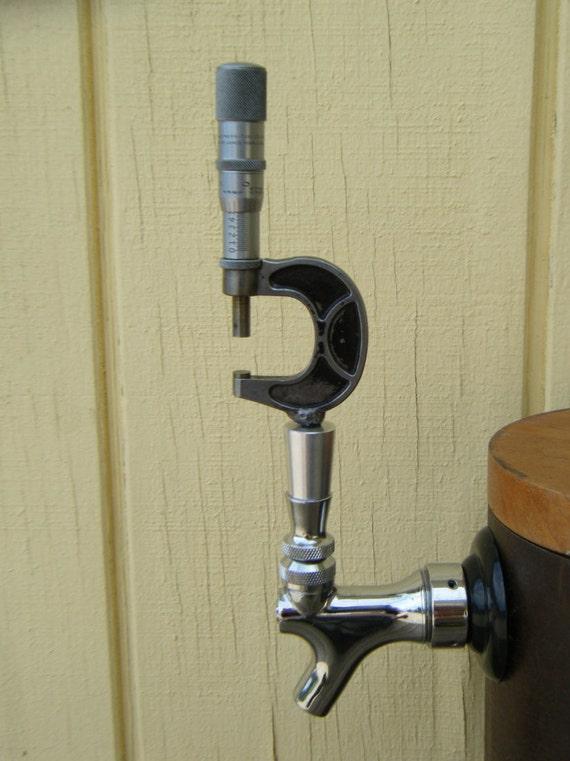 Beer Tap Handle Vintage Micrometer For Bar Kegerator Draft