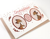 Baby Expecting Cards - Congratulations, New Little One - 10 Copper Foil Greeting Cards