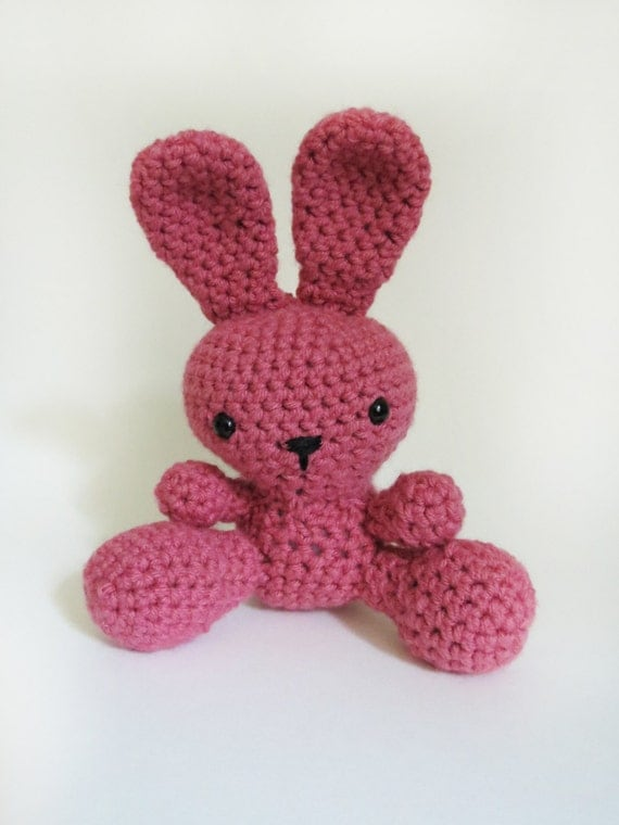 Pink Amigurumi Bunny
