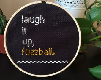 Star Wars - Han Solo Inspired 'Laugh It Up, Fuzzball' Cross Stitch