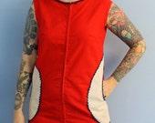 Vintage 1960s Womens Scooter Dress  Mod Target  Unique Design Mini Dress