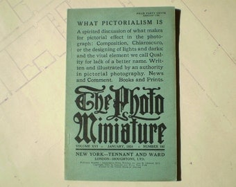 The Photo Miniature - January 1924 - No. 192 - A Monthly Magazine of Photographic Information