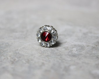 Red Tie Tack for Men, Mens Gifts, Gift for Men, Red Tie Pin