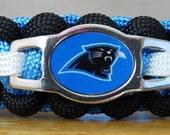 Carolina Panthers Bracelet, Paracord Bracelet, Survival Bracelet