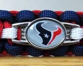 Houston Texans Bracelet, Paracord Bracelet, Survival Bracelet