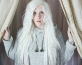 White Lace Front Wig | Long White Wig | Wavy Long Fairy Cosplay Straight Lace Front wig | Ghost