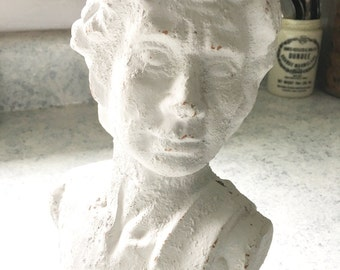 Shabby Chic Vintage Clay Bust