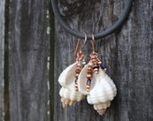Mermaid Whispers Seashell and Sparkling Jewels Earrings