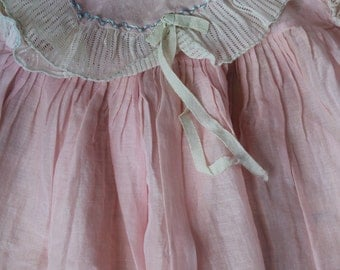 Vintage Handmade Doll Dress Vintage 1930's Handmade Doll Dress Vintage Doll Dress Vintage Pink Handmade Doll Dress