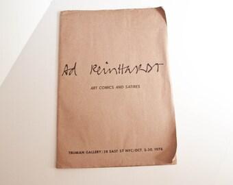 Ad Reinhardt Art Comics and Satires  / TRUMAN GALLERY PORTFOLIO 1976