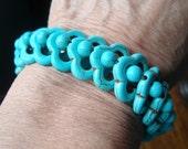 Turquoise Bracelet, Blue Bracelet, Blue Stretch Bracelet, Turquoise Stretch Bracelet
