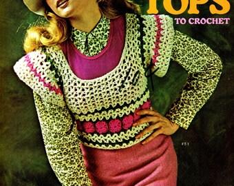 FLIP TOPS To Crochet Columbia Minerva Leaflet 2549 VINTAGE 1970s circa 1972