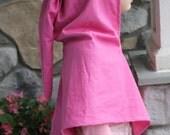 Dwarf Hood Dark Pink Upcycled Cotton with Liripipe