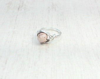 Wire Wrapped Ring - Jasper Ring - Beaded Ring - Women's Ring - Boho Ring - Gifts For Her - Boho Jewelry - Women's Jewelry