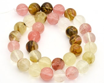 25 Watermelon 4mm Faux Tourmaline Beads Multicoloured Stunning - BD915