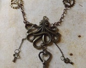 Steampunk Octopus Necklace, Steampunk jewellery, Octopus necklace, Kracken necklace, Nautical Jewellery, Nautical necklace