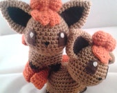 Vulpix Pokemon Inspired Crochet Doll - Old Style - Last one of this type!