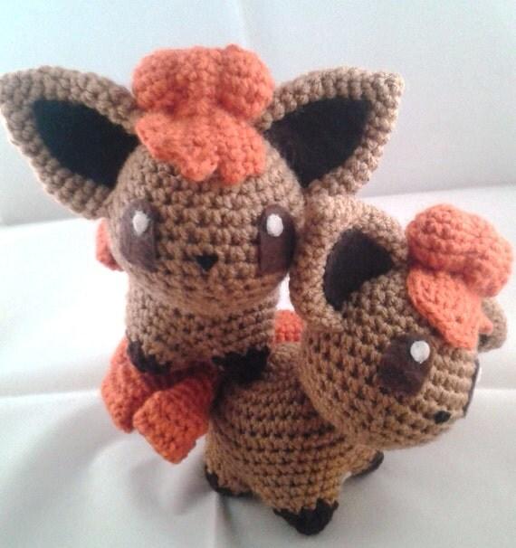 Amigurumi Vulpix Pattern : Vulpix Pokemon Inspired Crochet Doll OOAK by ChibiSayuri ...