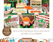 Dinosaur Birthday Party | Dinosaur Party Printable | Dinosaur Birthday Decorations | Dinosaur Party Favor | Amanda's Parties To Go