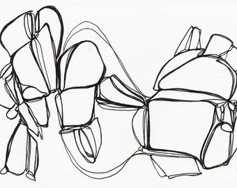 ORIGINAL Line Drawing, Black and White, Pen and Ink, Ink on Paper, Black Line Drawing, Fine Line, Fine Art, Abstract Art, Abstract Drawing
