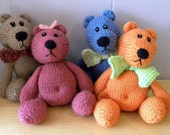Hand Knitted Teddy - CE Marked Toy - Knitted Character Bear - Teddy Bear for Children
