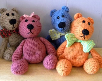 Out of Stock, Orders Welcome - Hand Knitted Teddy - CE Marked Toy - Knitted Character Bear - Teddy Bear for Children