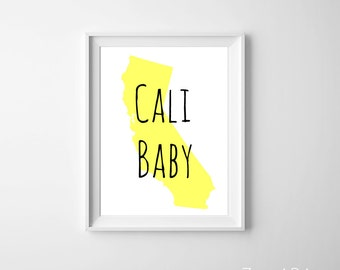 California state art etsy california state art nursery art california wall decor baby shower gift nursery personalized negle Image collections