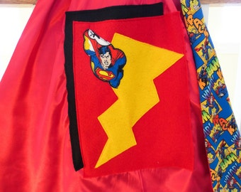 Small Super Man Superhero Cape, Kids Playwear & Costume