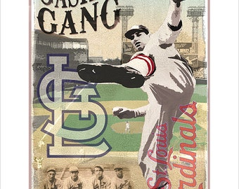 St. Louis Cardinals Gashouse Gang Print - 8x10, 11x14 or 16x20 print - Baseball poster Boys room Man cave Baseball decor
