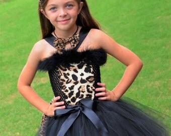Leopard Costume- Cat costume- Cheetah Costume - leopard Dress- Leopard print- Couture Leopard Costume- size 0-4t
