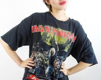 Vintage Iron Maiden Tee 90s Concert Tee Metal Thrash Iron Maiden Shirt Heavy Metal Tee 90s Tee 90s Shirt Black Sabbath Metallica Nirvana