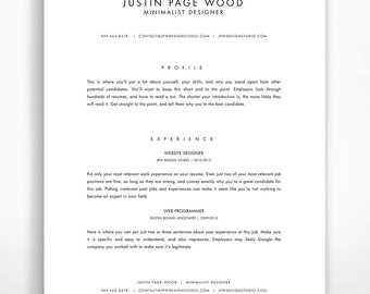 resume template instant download professional resume minimalist resume modern resume template