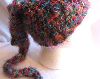Woodland ELF BEANIE Textured Fuzzy Rainbow