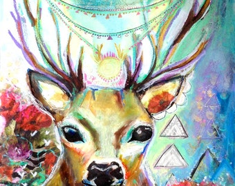 Intuitive Art Print - Deer Heart