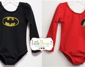 CHILD (Super Hero Leotard) Your choice Batman OR Robin