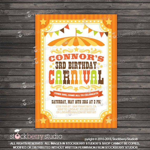 Fall Carnival Invitation Printable