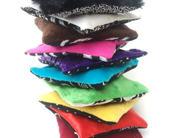 10 Sensory Bags Rainbow of Cherry Stone Contrasting Touch Toys