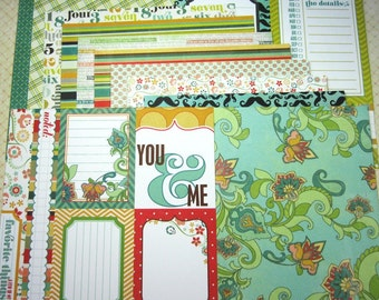 12 6 x 6 Double-sided My Mind's Eye Six by Six Collection Papers Cardstock for Scrapbooking Mini Albums Cards Tags Altered Art Papercrafts