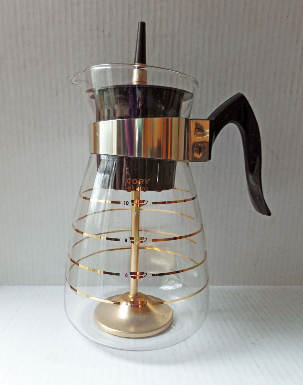 Mid century percolator stove top coffee maker pot clear glass for Best coffee percolator