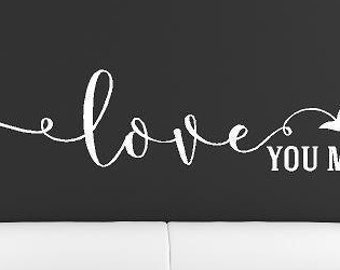 Love you more Vinyl Lettering decals  family wall words decal graphics Home decor wedding gift art bedroom nursery  room itswritteninvinyl
