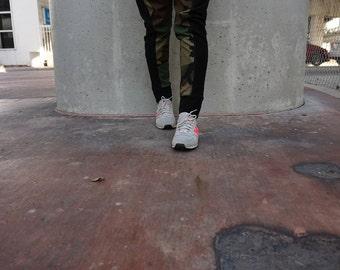 SALE Womens Army Camouflage Drop Crotch Harem Pants / Womens Joggers / Womens drop Crotch Pants / Handmade by GAG THREADS