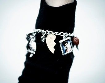 The Original Twin Peaks Custom Charm Bracelet w/ Laura portrait, plus you chose 12 additional themed charms.