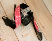 Turtle Camera Strap - Photographer Gift - Tiny Turtles in Pink