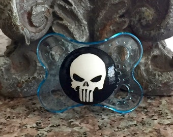 Baby Punisher Custom Hand Painted Pacifier by PiquantDesigns