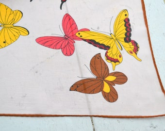 1960s Chiffon Butterfly Scarf