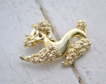 1950s Gerry's Poodle Brooch