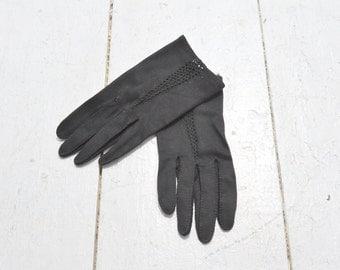 1950s Black Grandoe Cotton Gloves