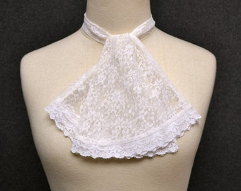 1970s Lace Ascot Scarf